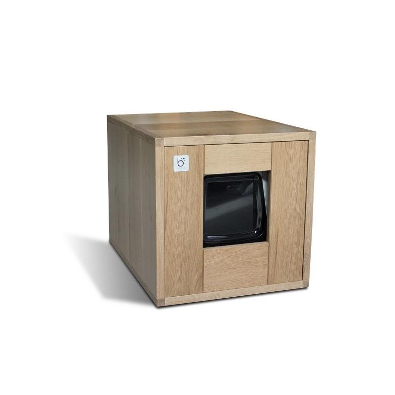 design kattentoilet van binq design trendy eiken kattenbak. Black Bedroom Furniture Sets. Home Design Ideas